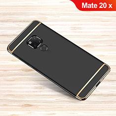 Carcasa Bumper Lujo Marco de Metal y Plastico Funda M01 para Huawei Mate 20 X Negro