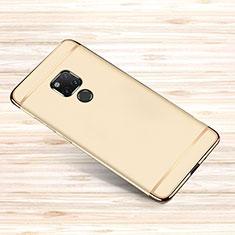 Carcasa Bumper Lujo Marco de Metal y Plastico Funda M01 para Huawei Mate 20 X Oro