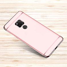 Carcasa Bumper Lujo Marco de Metal y Plastico Funda M01 para Huawei Mate 20 X Oro Rosa