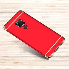 Carcasa Bumper Lujo Marco de Metal y Plastico Funda M01 para Huawei Mate 20 X Rojo