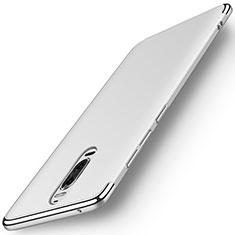 Carcasa Bumper Lujo Marco de Metal y Plastico Funda M01 para Huawei Mate 9 Pro Plata