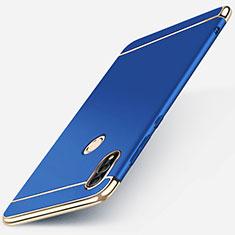 Carcasa Bumper Lujo Marco de Metal y Plastico Funda M01 para Huawei P Smart (2019) Azul
