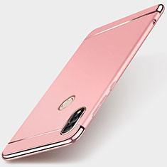 Carcasa Bumper Lujo Marco de Metal y Plastico Funda M01 para Huawei P Smart (2019) Oro Rosa
