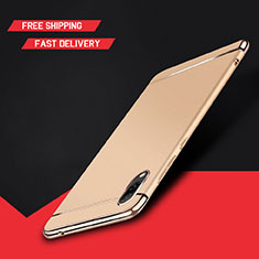 Carcasa Bumper Lujo Marco de Metal y Plastico Funda M01 para Huawei Y7 Pro (2019) Oro
