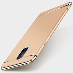 Carcasa Bumper Lujo Marco de Metal y Plastico Funda M01 para Oppo RX17 Pro Oro