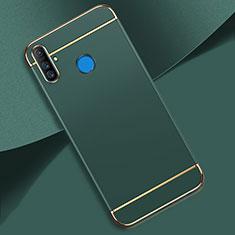 Carcasa Bumper Lujo Marco de Metal y Plastico Funda M01 para Realme C3 Verde