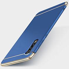 Carcasa Bumper Lujo Marco de Metal y Plastico Funda M01 para Xiaomi Mi 9 Pro 5G Azul