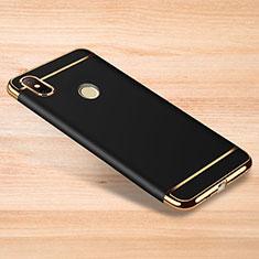 Carcasa Bumper Lujo Marco de Metal y Plastico Funda M01 para Xiaomi Redmi Note 6 Pro Negro