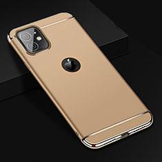 Carcasa Bumper Lujo Marco de Metal y Plastico Funda T01 para Apple iPhone 11 Oro