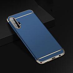 Carcasa Bumper Lujo Marco de Metal y Plastico Funda T01 para Huawei Honor 20 Pro Azul