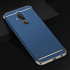 Carcasa Bumper Lujo Marco de Metal y Plastico Funda T01 para Huawei Mate 20 Lite Azul