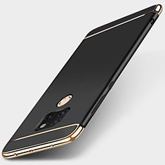 Carcasa Bumper Lujo Marco de Metal y Plastico Funda T01 para Huawei Mate 20 Negro