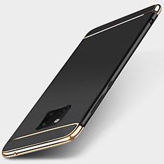 Carcasa Bumper Lujo Marco de Metal y Plastico Funda T01 para Huawei Mate 20 Pro Negro