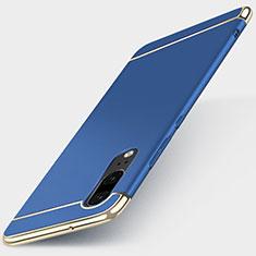 Carcasa Bumper Lujo Marco de Metal y Plastico Funda T01 para Huawei P20 Azul