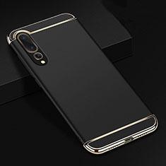 Carcasa Bumper Lujo Marco de Metal y Plastico Funda T01 para Huawei P20 Pro Negro