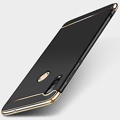 Carcasa Bumper Lujo Marco de Metal y Plastico Funda T01 para Huawei P30 Lite Negro