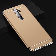 Carcasa Bumper Lujo Marco de Metal y Plastico Funda T01 para Xiaomi Redmi Note 8 Pro Oro