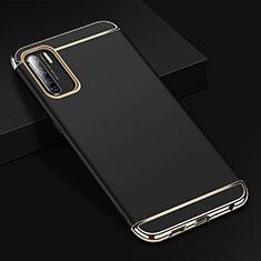 Carcasa Bumper Lujo Marco de Metal y Plastico Funda T02 para Oppo Find X2 Lite Negro