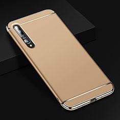 Carcasa Bumper Lujo Marco de Metal y Plastico Funda T02 para Xiaomi Mi 10 Pro Oro