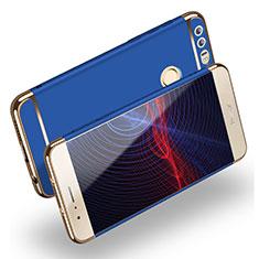 Carcasa Bumper Lujo Marco de Metal y Plastico M01 para Huawei Honor 8 Azul
