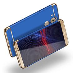 Carcasa Bumper Lujo Marco de Metal y Plastico M02 para Huawei Mate 8 Azul