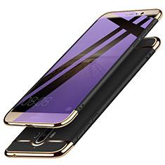 Carcasa Bumper Lujo Marco de Metal y Plastico M02 para Huawei Mate 9 Negro