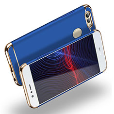 Carcasa Bumper Lujo Marco de Metal y Plastico M02 para Huawei Nova 2 Plus Azul