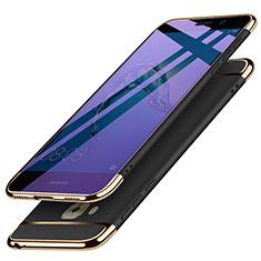 Carcasa Bumper Lujo Marco de Metal y Plastico M02 para Huawei Nova Plus Negro