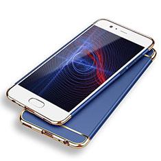 Carcasa Bumper Lujo Marco de Metal y Plastico M02 para Huawei P9 Azul