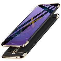 Carcasa Bumper Lujo Marco de Metal y Plastico M03 para Huawei Honor 6X Pro Negro