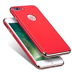 Carcasa Bumper Lujo Marco de Metal y Plastico R01 para Apple iPhone 8 Plus Rojo