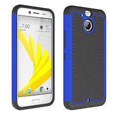 Carcasa Bumper Silicona Transparente Mate para HTC Bolt Azul