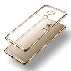 Carcasa Bumper Silicona Transparente Mate para Huawei Mate S Oro