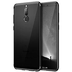 Carcasa Bumper Silicona Transparente Mate para Huawei Rhone Negro