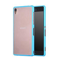 Carcasa Bumper Silicona Transparente Mate para Sony Xperia Z3 Azul Cielo