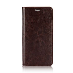 Carcasa de Cuero Cartera con Soporte F01 para Apple iPhone Xs Max Marron