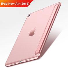 Carcasa de Cuero Cartera con Soporte L01 para Apple iPad Air 3 Oro Rosa