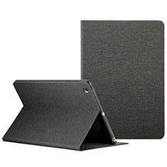 Carcasa de Cuero Cartera con Soporte L01 para Apple iPad Mini 3 Negro