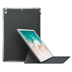 Carcasa de Cuero Cartera con Soporte L01 para Apple iPad Pro 10.5 Gris