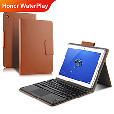 Carcasa de Cuero Cartera con Soporte L01 para Huawei Honor WaterPlay 10.1 HDN-W09 Oro