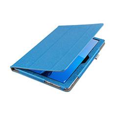 Carcasa de Cuero Cartera con Soporte L01 para Huawei MediaPad M3 Lite 10.1 BAH-W09 Azul
