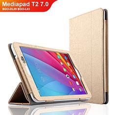 Carcasa de Cuero Cartera con Soporte L01 para Huawei Mediapad T2 7.0 BGO-DL09 BGO-L03 Oro