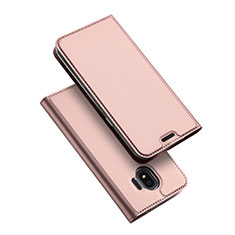 Carcasa de Cuero Cartera con Soporte L01 para Samsung Galaxy J2 Pro (2018) J250F Oro Rosa