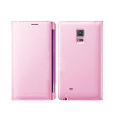 Carcasa de Cuero Cartera con Soporte L01 para Samsung Galaxy Note Edge SM-N915F Rosa