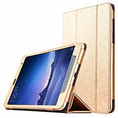 Carcasa de Cuero Cartera con Soporte L01 para Xiaomi Mi Pad 2 Oro