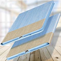 Carcasa de Cuero Cartera con Soporte L02 para Apple New iPad 9.7 (2018) Azul Cielo