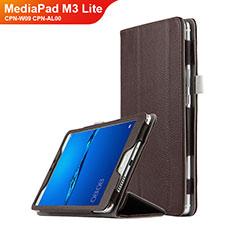 Carcasa de Cuero Cartera con Soporte L02 para Huawei MediaPad M3 Lite 8.0 CPN-W09 CPN-AL00 Marron