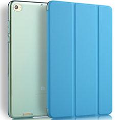 Carcasa de Cuero Cartera con Soporte L02 para Xiaomi Mi Pad 2 Azul
