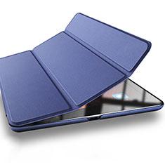 Carcasa de Cuero Cartera con Soporte L03 para Xiaomi Mi Pad 3 Azul