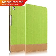 Carcasa de Cuero Cartera con Soporte L04 para Huawei MediaPad M5 8.4 SHT-AL09 SHT-W09 Verde